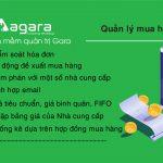 Tính năng quản lý mua hàng trong phần mềm quản trị AGARA